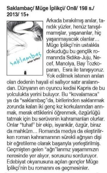 21.11.2013 Cumhuriyet Kitap-saklambac
