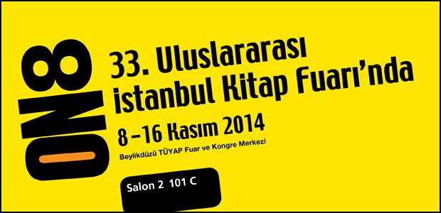 ON8, 33. Uluslararası İstanbul Kitap Fuarı'nda!