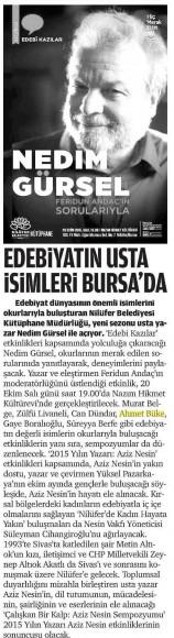 17.10.2015 ON8 - Bursa Yeni Dönem
