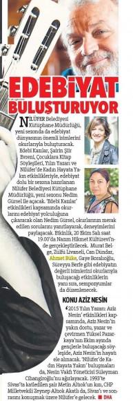 17.10.2015 ON8 -Hürriyet Bursa