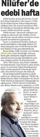 20.10.2015 Bursa Millet