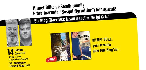 """Ahmet Büke ve Semih Gümüş, kitap fuarında """"Sosyal Ayrıntılar""""ı konuşacak!"""