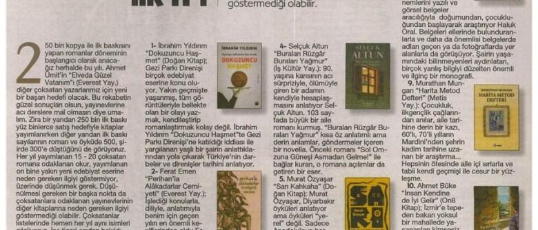 """Cumhuriyet Kitap – """"2015'te Türk Edebiyatı'nın ilk 11'i"""""""