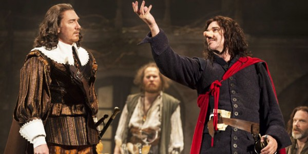 Cyrano de Bergerac American Airlines Theatre  Cast List: Douglas Hodge Clémence Poésy Patrick Page Kyle Soller Max Baker  Bill Buell Geraldine Hughes Peter Bradbury Jack Cutmore-Scott Mikaela Feely-Lehmann  Andy Grotelueschen Tim McGeever Drew McVety Frances Mercanti-Anthony Okieriete Onaodowan Samuel Roukin Ben Steinfeld  Production Credits: Jamie Lloyd (Direction) Ranjit Bolt (Translation) Soutra Gilmour (Set and Costume Design) Japhy Weideman (Lighting Design) Dan Moses Schreier (Sound Design) Charlie Rosen (Music)  Other Credits: Written by: Edmond Rostand