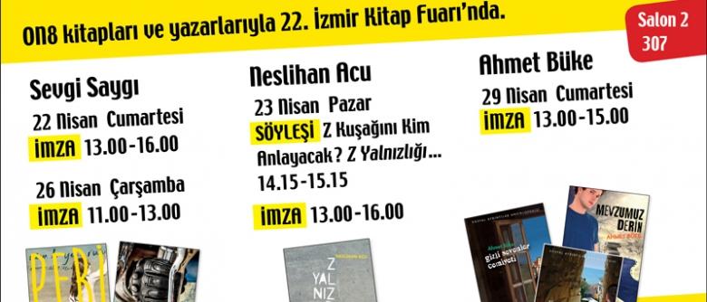 ON8, 22. İzmir Kitap Fuarı'nda!