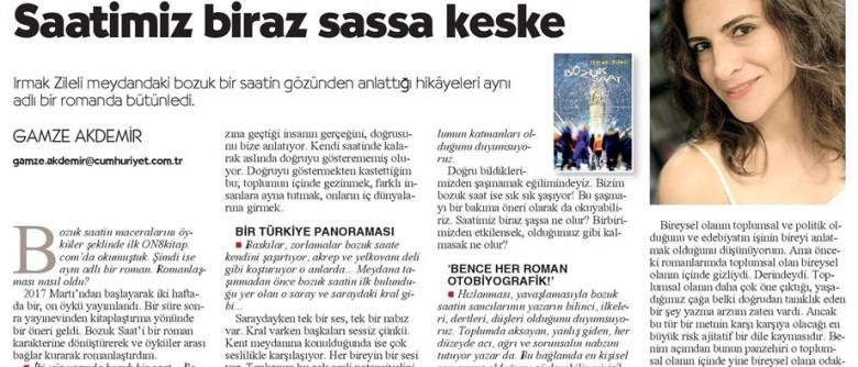 """Cumhuriyet Kitap – """"Saatimiz biraz şaşsa keşke"""""""